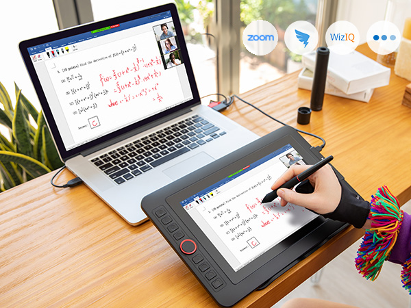 Video calls and electronic writing pads